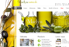 Olive oil website example image