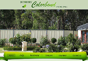 Colourbond fencing example website image