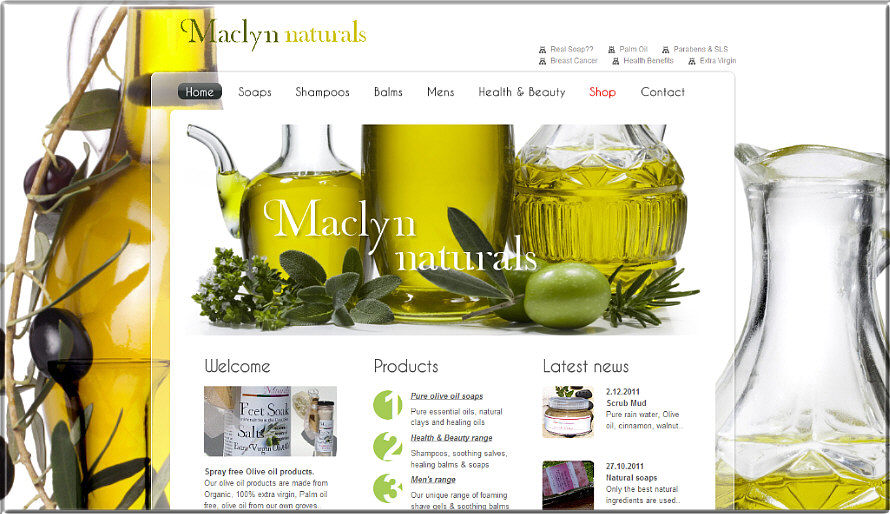website for maclyn naturals image