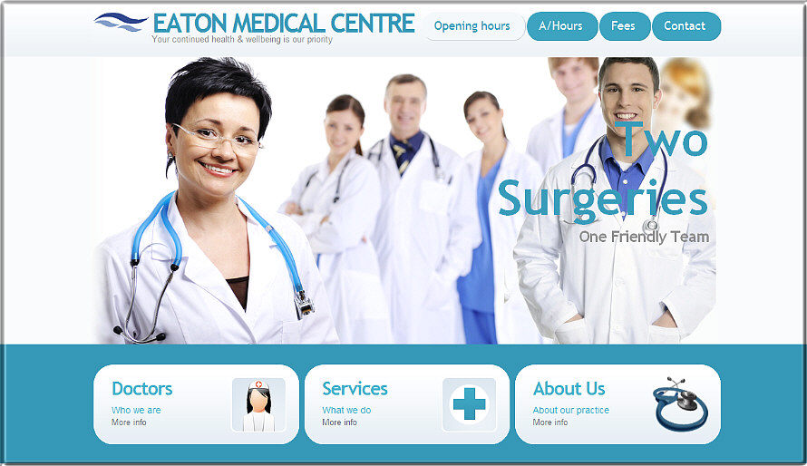 Medical centre website image